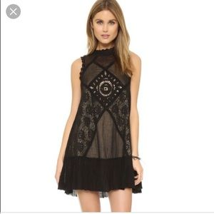Free people angel lace mini dress